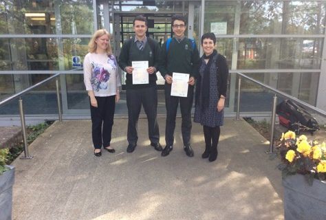 Firhouse Community College students with their wonderful Cambridge online placement test results!