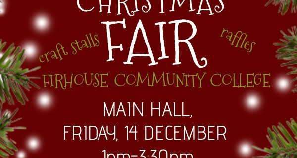 Christmas Craft Fair (Friday 14th Dec, 1 – 3.30pm)