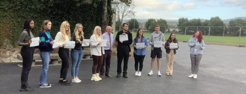 Leaving Certificate 2021 Celebration for students who received 500 points or more.